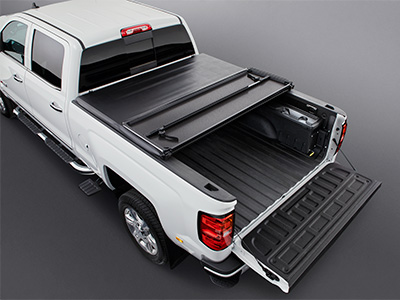 Hard Tri-Folding Tonneau Cover Black